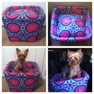 The Stylish Square Hamper Seat For Small And Medium Sized Dogs